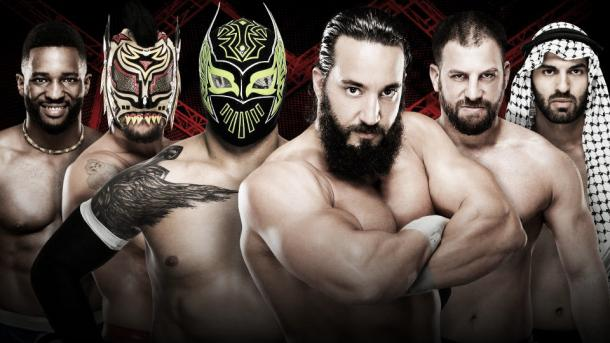 The cruiserweights kick off Hell in a Cell. Photo- WWE.com
