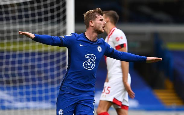 Werner anotó sus primeros dos goles por Premier. Foto: Premier League