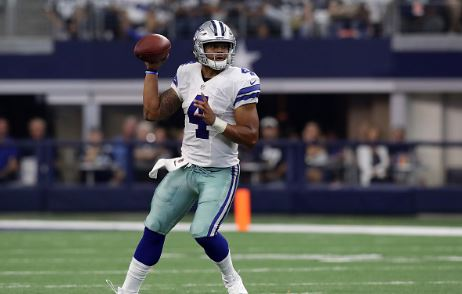 Even thought the Dallas Cowboys didn't beat the New York Giants, Cowboys rookie quarterback Dax Prescott put his team in position to win | Source: Ronald Martinez - Getty Images