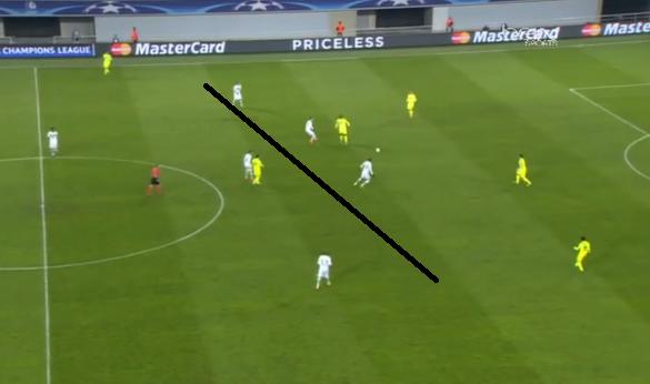 Los jugadores del Wolfsburgo presionan la salida de balón buscando el error