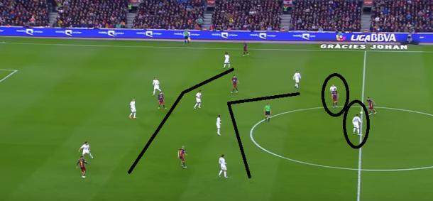 4-4-2 madridista ya con Jesé Rodríguez sobre el verde del Camp Nou