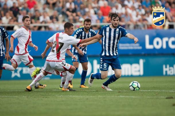 Eugeni fue el primer goleador del Lorca en Segunda División | Foto: Lorca FC