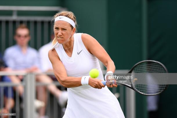 Azarenka has an aggressive game style and will look to dictate (Getty Images/Matthias Hangst)