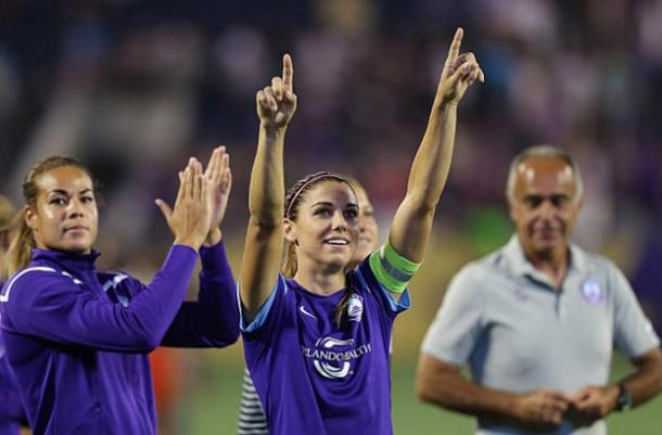 Alex Morgan after a game against the Houston Dash in the 2016 NWSL season | Source: Alex Menendez