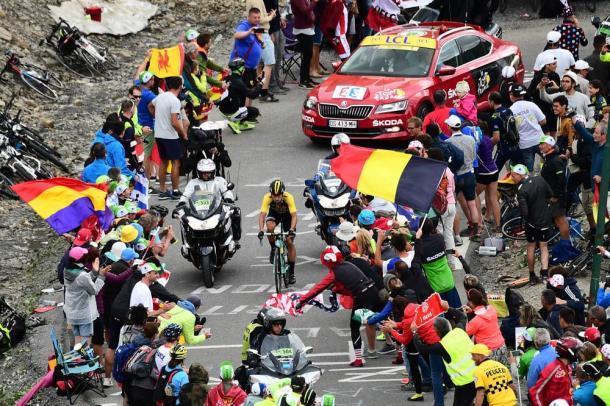 Primoz Roglic rompió la carrera en el Galibier. | Foto: TDF