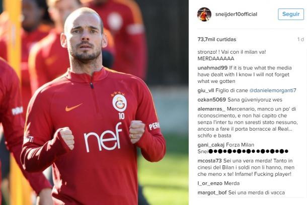 Foto: Reprodução/Instagram sneijder10official