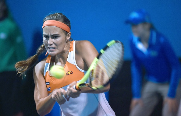 Monica Puig during her epic win in round two. Photo: Paul Crock/AFP/Getty Images