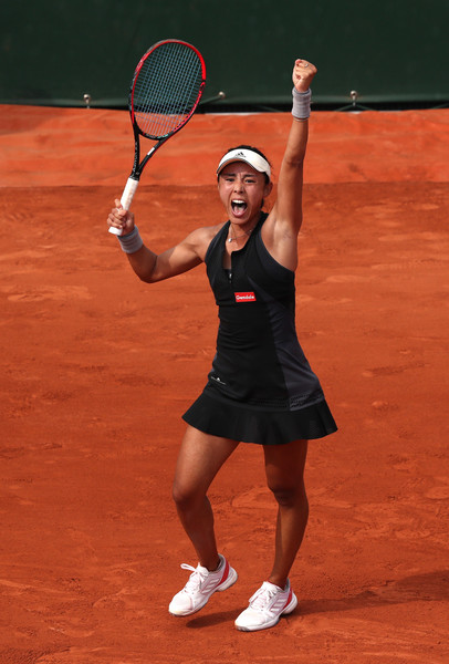 Wang Qiang celebrates the biggest win of her career   Photo: Matthew Stockman/Getty Images Europe