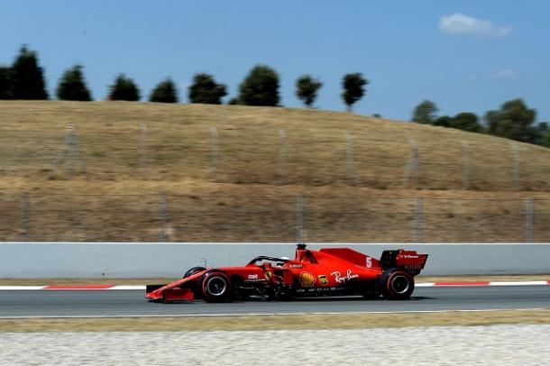 Sebastian Vettel, eliminado en Q2. Fuente: Ferrari vía Twitter