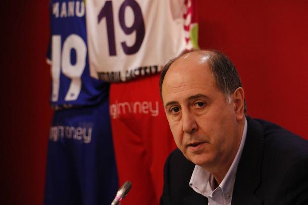 Josean Querejeta, presidente de Saski Baskonia. | Foto: Baskonia