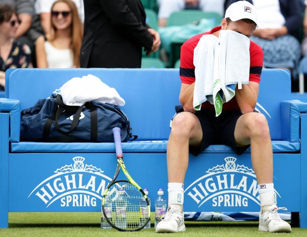 Querrey never fully recovered after the loss of the second set tiebreak. Photo: Getty