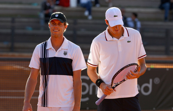 Querrey (left) and John Isner in Rome back in 2012. Photo: Clive Brunskill/Getty Images