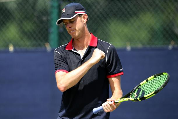 Querrey only faced three break points in the match, all coming in the fifth game of the second set. Photo: Getty