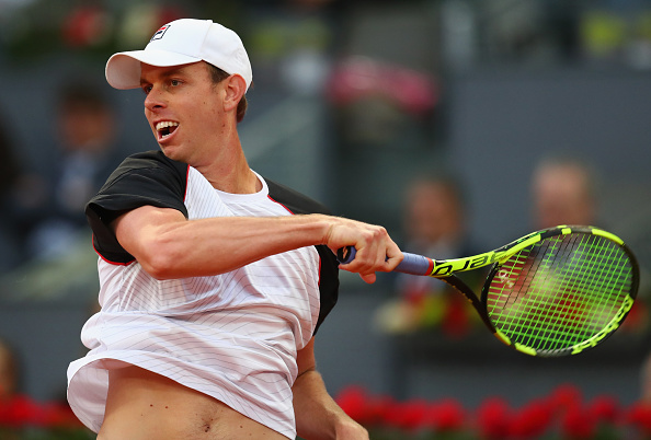Sam Querrey dominated the early stages of the match with his huge hitting. Photo: Julian Finney/Getty Images