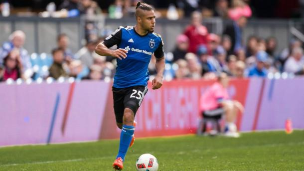 Quincy Amarikwa will need to step up for the Earthquakes on Saturday against FC Dallas. Photo provided by USA TODAY Sports.