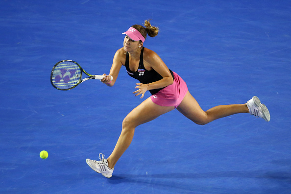 Belinda Bencic in action during her fourth round loss at the Australian Open to Maria Sharapova (Getty/Quinn Rooney)