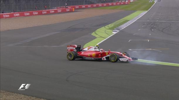 Räikkönen rodou, assustou, mas passou para o Q3 (Foto: Divulgação/F1)