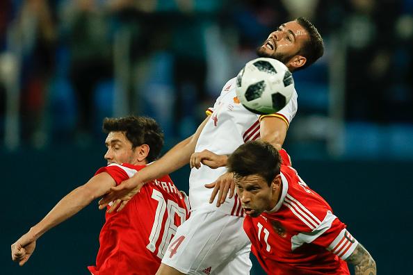 Russos ficaram no empate com a Espanha no último amistoso de 2017 (Foto: Epsilon/Getty Images)