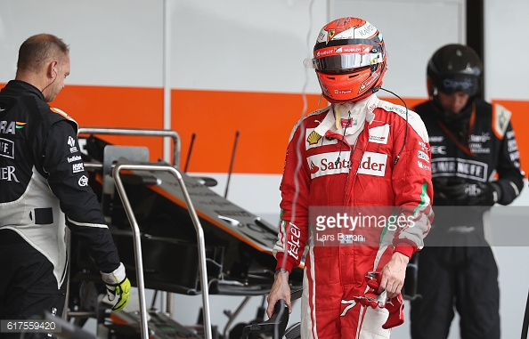 Kimi Raikkonen had a race to forget. | Photo: Getty Images/Lars Baron