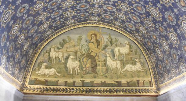 Interior del Mausoleo de Gala Placidia | Foto: Lucía Blázquez