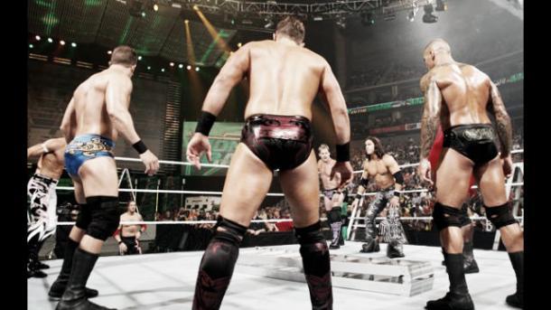 The superstars prepare for the match. Photo- wwe.com