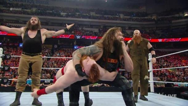 The Wyatt Family carry out an attack on League of Nations (Photo: wwe.com)