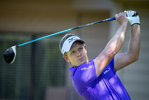 Luke Donald, of England, watches his drive down the third fairway during the final round of the RBC Heritage on Sunday (AP Photo/Stephen B. Morton)