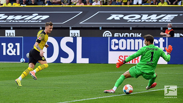 Reus y su gol número 100 en Bundesliga con BVB / foto: @Bundesliga_EN