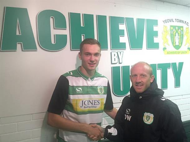 Ryan Hedges and Darren Way pose after the deal was done. | Image credit: Yeovil Town