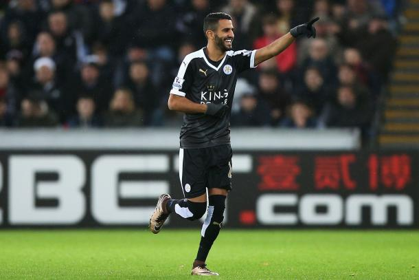 Mahrez has been in terrific form for the Foxes this season (Photo: Getty)