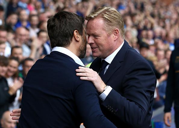 Koeman and Pochettino embrace before kick-off.   Image credit: Jan Kruger/Getty Images