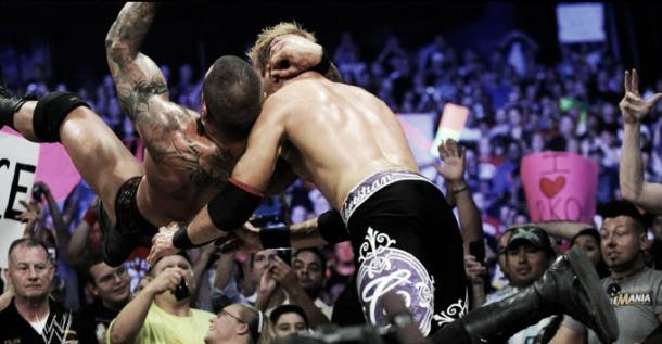 Christian celebrated his victory with an RKO. Photo-www.fanpop.com