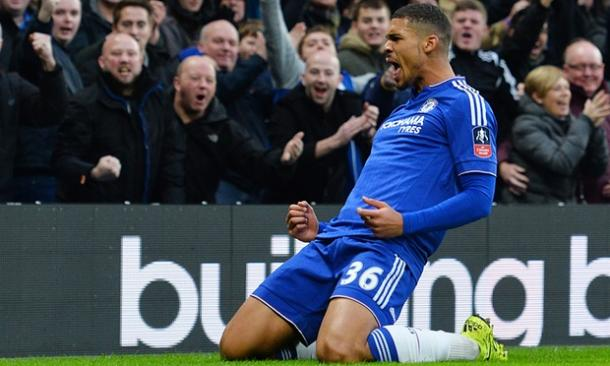 Loftus-Cheek celebrates his first goal for the club. | Image source: Chelsea FC.