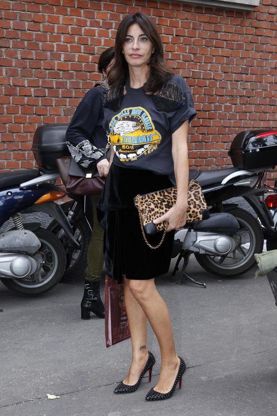 Combinación con bolso de leopardo | Foto: Pinterest