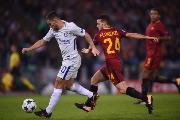 Hazard intentó buscar el gol pero no tuvo ayuda   Foto: Chelsea.
