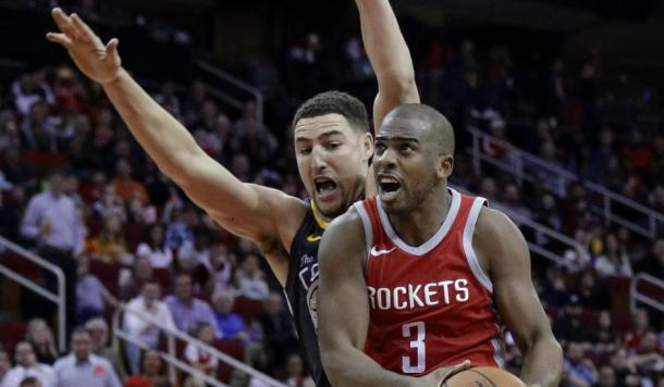 Chris Paul made it to his first-ever Western Conference appearance. Could he and his Rockets make the jump and dethrone the Warriors and advance to the NBA Finals? Photo: AP Photo/Michael Wyke