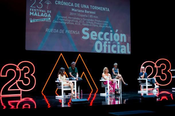 Rueda de prensa en el Festival de cine de Málaga /Fuente: Radio Málaga