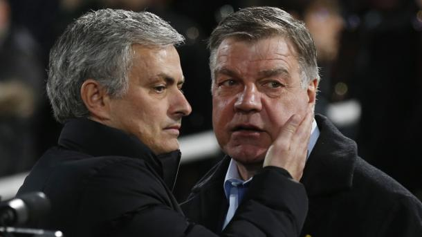 Jose Mourinho with England manager Sam Allardyce | Photo: Getty Images