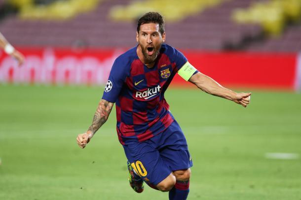Messi celebrando un gol. | Foto: FC Barcelona