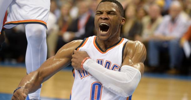 Russell Westbrook seems to be the clear favorite to win this season's NBA MVP. Photo: Mark D. Smith/ USA-TODAY Sports