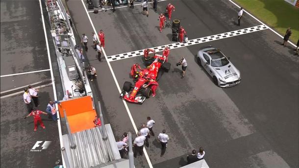 Räikkönen abandonou antes mesmo da largada (Foto: Divulgação/F1)