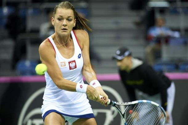 Radwanska in Fed Cup action. Photo: Fed Cup