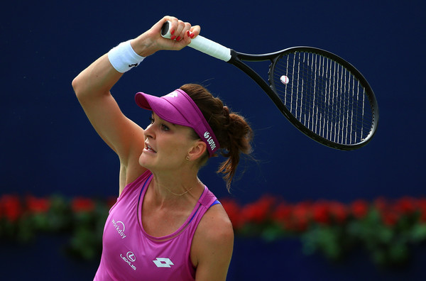 Agnieszka Radwanska follows through on a forehand in Toronto. Photo: Vaughn Ridley/Getty Images