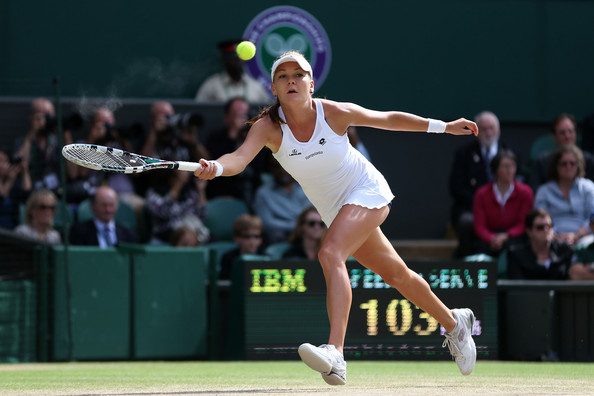 Radwanska lunges for a forehand during the 2012 Wimbledon final. Photo: Julian Finney/Getty Images