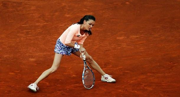 Radwanska shows some frustration during her loss to Cibulkova. Photo: Reuters