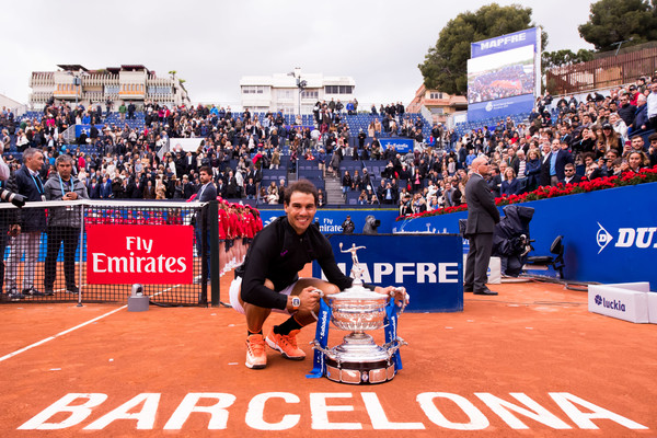 The Spaniard won his tenth title in Barcelona last week (Photo by Alex Caparros / Getty Images)