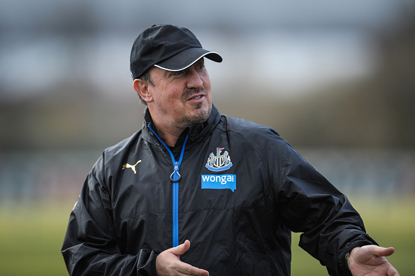 The new manager Benitez in training | Photo: Serena Taylor/Newcastle United