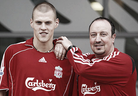 The best of Martin Skrtel came under Benitez, who brought him to Anfield in 2008. (Daily Mail)