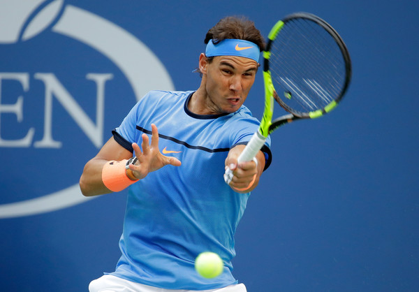 Rafael Nadal hits a forehand at the US Open in New York City/Getty Images