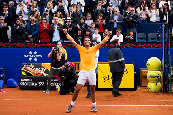 Rafael Nadal celebrates the terrific one-sided victory | Photo: Alex Caparros/Getty Images Europe